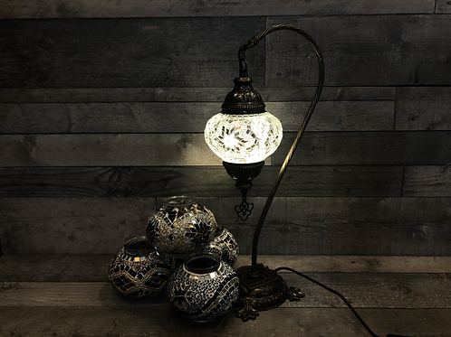 Lampe col de cygne, de diamètre 13cm