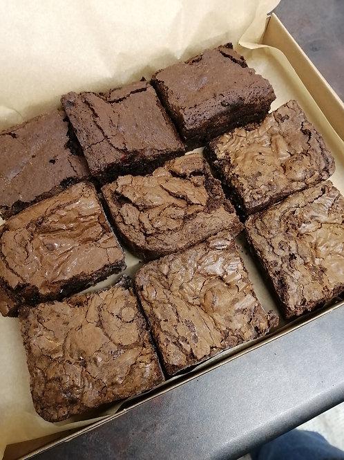 Gluten Free, Vegan, Soya Free 9 Piece Brownie Box