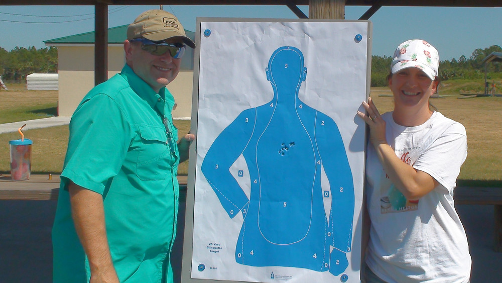 Richard, my instructor, and myself with my target