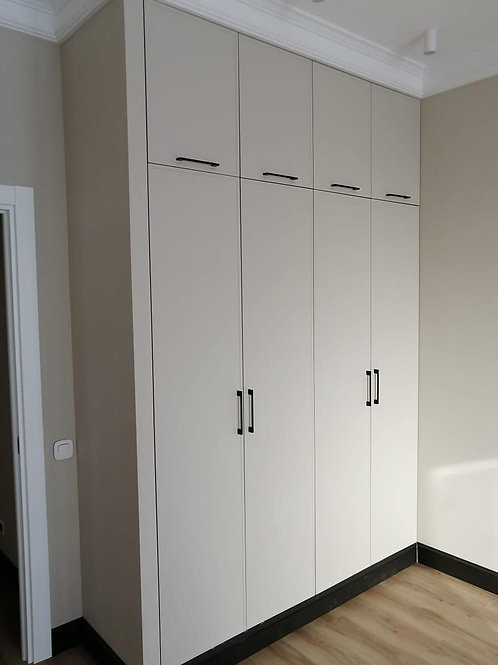 шкаф распашной с фасадами пленка ПВХ матовая
