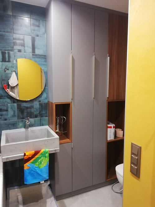 Пенал в ванную комнату ул. Иванова (Академгородок)