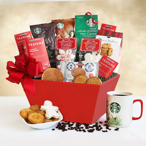 Christmas Starbucks Coffee and Cookies Gift