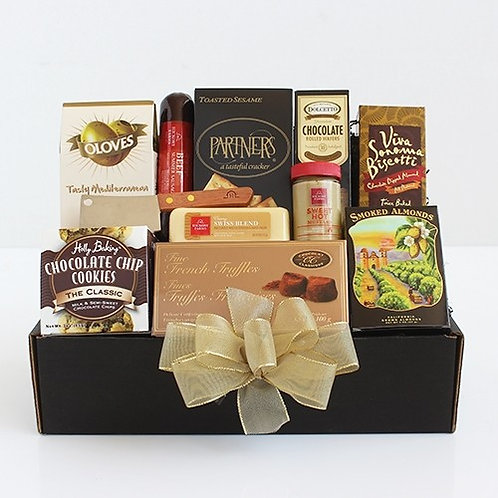 Gourmet Salami and Cheese Classic Gift Basket