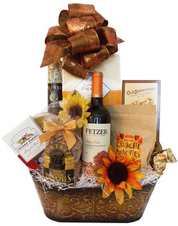 Custom Fall Wine Gift Basket
