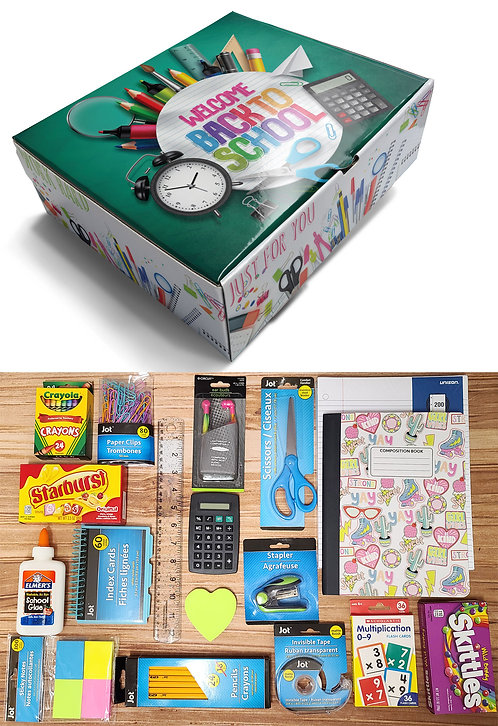 Back to School Care Package for Kids ages 7 to 12