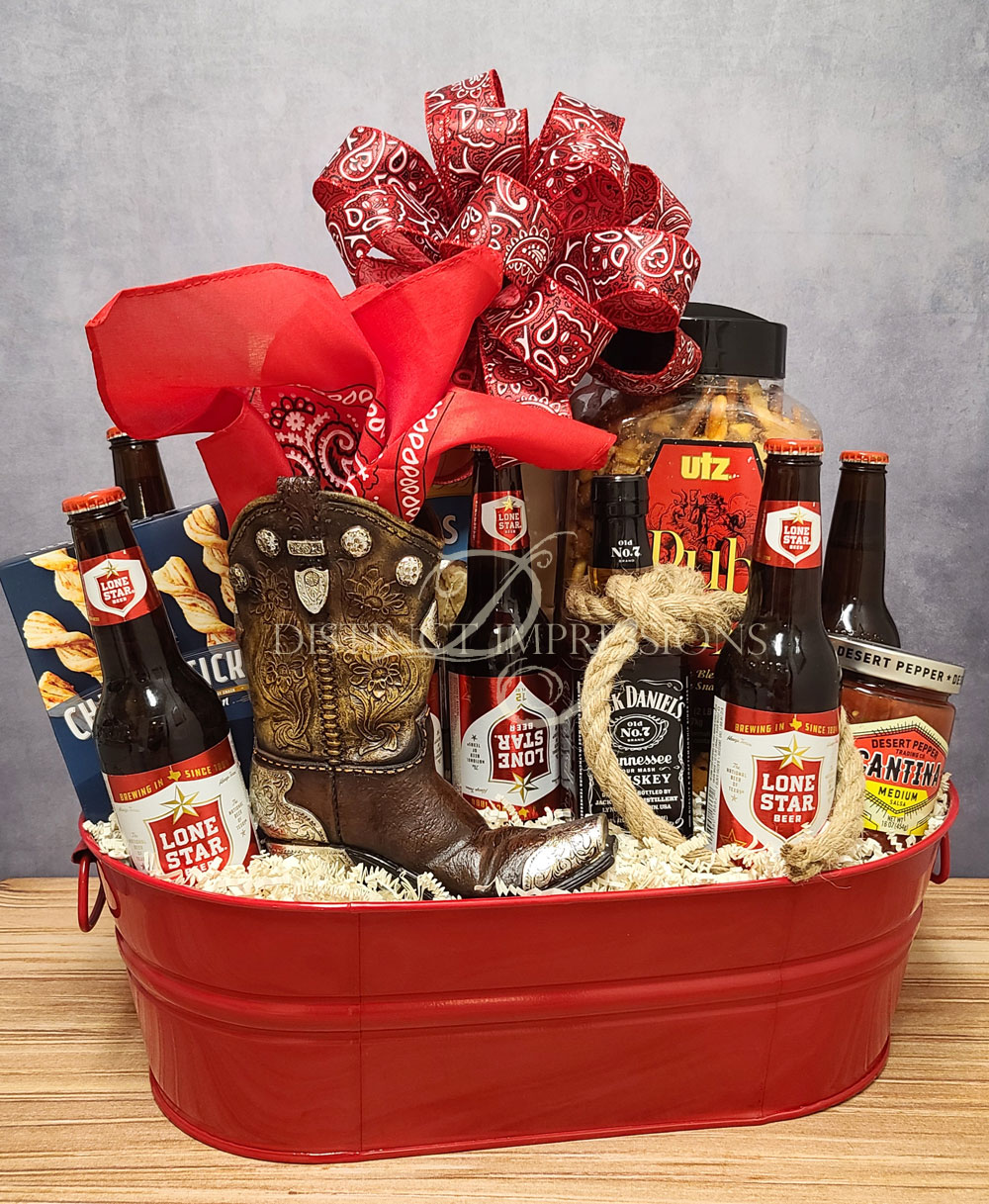 Texas Cowboy Beer Gift Tin