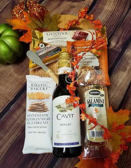 Giving Thanks Wine Gift Board for Thanksgiving
