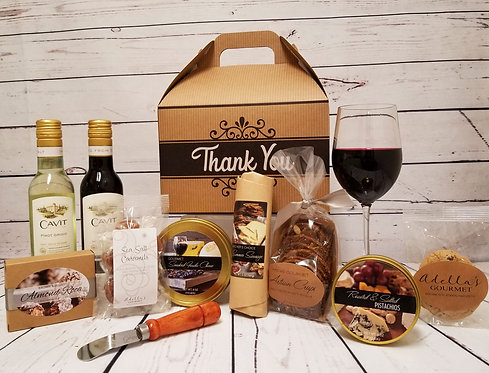 Thank You Amenity Gable Box with Wine