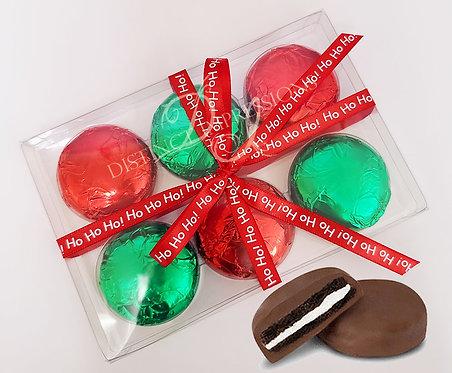 Christmas Chocolate Dipped Oreo Cookie Box