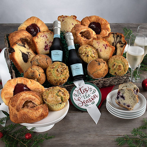 Tis the Season - Baked Goods and Champagne Gift