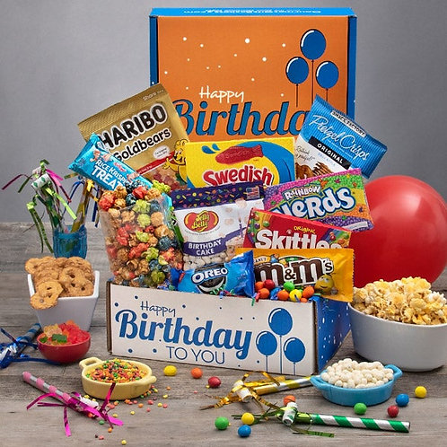Happy Birthday To You Care Package with Sweets and Snacks