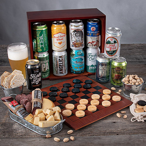 Beer and Snacks for Game Night Gift for Men