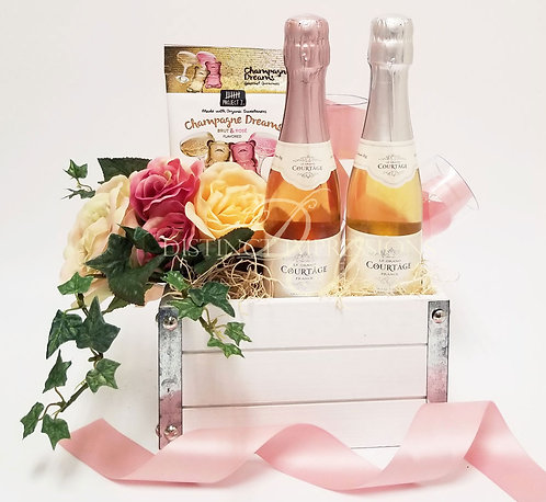 From This Day Forward... Champagne and Fresh Flowers Gift