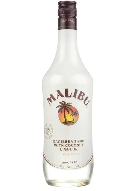 Malibu Coconut Rum - Full Size Bottle