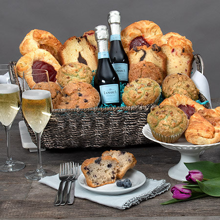Sunday Brunch - Fresh Muffins and Champagne