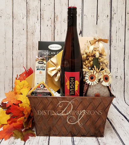 Late Harvest Riesling and Gourmet Gift Basket for Fall