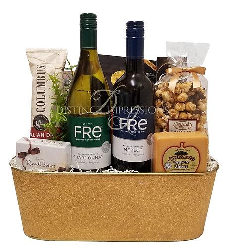 Non-Alcoholic Wine Gift - Merlot and Chardonnay - Alcohol Free Gift