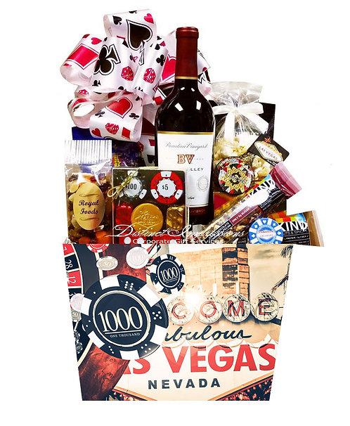 Welcome to Vegas Gourmet Wine Gift Basket