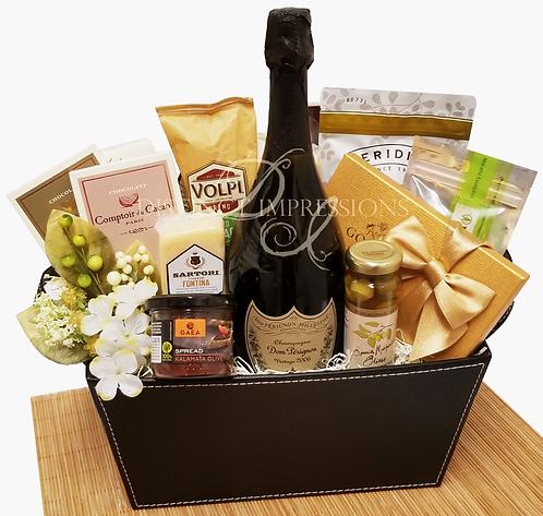 Classic Dom Perignon Gift Basket