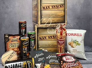 Man Snacks featuring Mike's Hard Lemonade Seltzer!