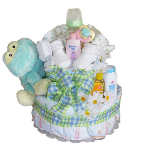 Custom New Baby Diaper Cake