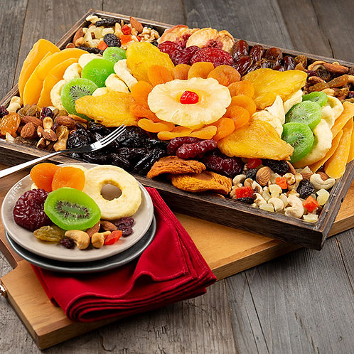 Healthy Dried Fruit and Nut Platter