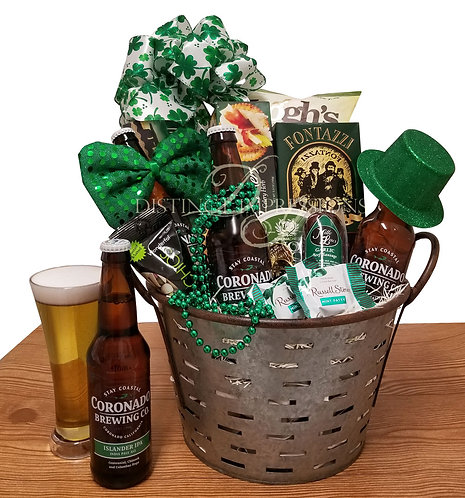 Smiling Irish Eyes - Beer Gift Basket for St. Patrick's Day