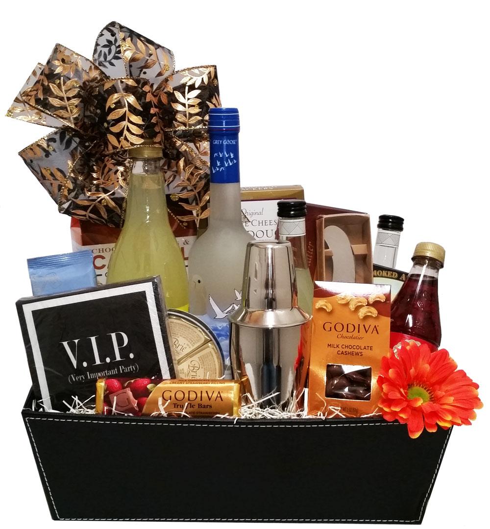 Custom Vodka Collins Gift Basket