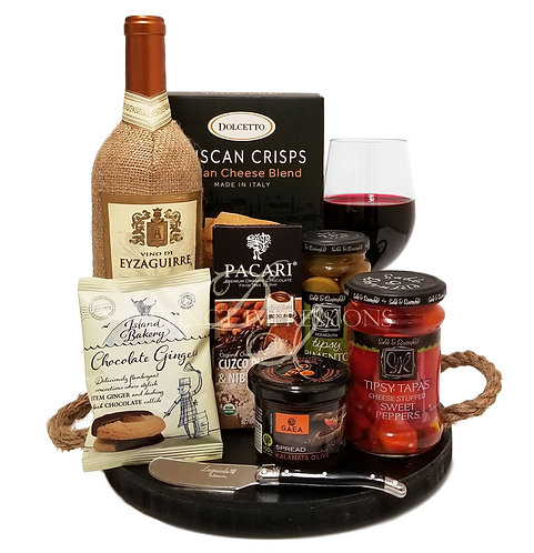 Wine and Cicchetti (Small Plate) Gift Tray