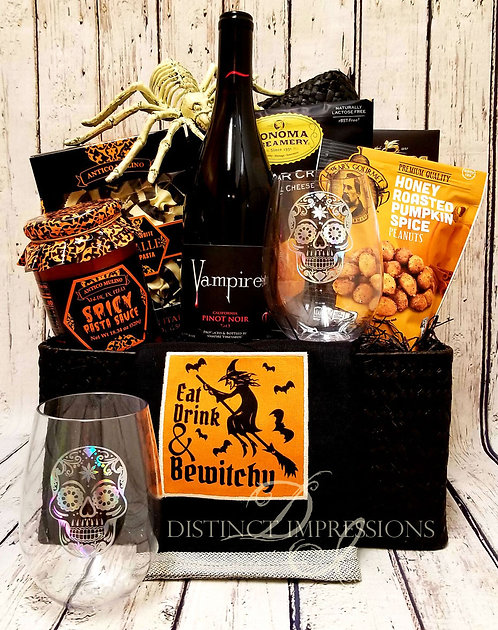 Vampire Wine and Gourmet Pasta Gift Basket