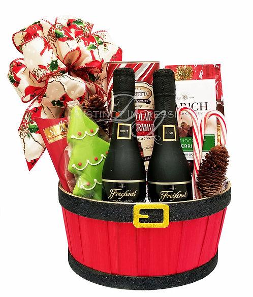 Santa's Holiday Celebration Gift Basket