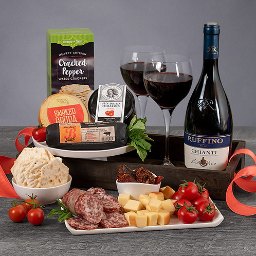 Italian Chianti Red Wine Gift Tray