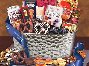 Corporate Gift Baskets with Personalization. Food Basket Gifts with Company Logo