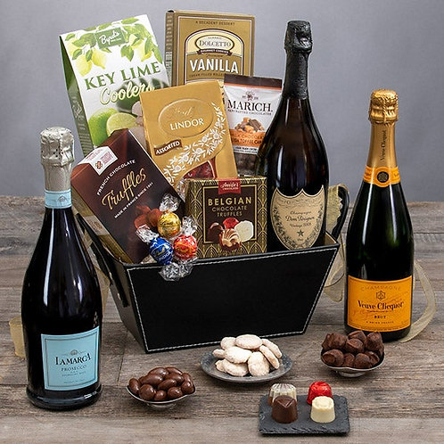 Champagne and Chocolate Truffles Gift Basket