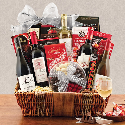 Great Wines Of The World Gift Basket
