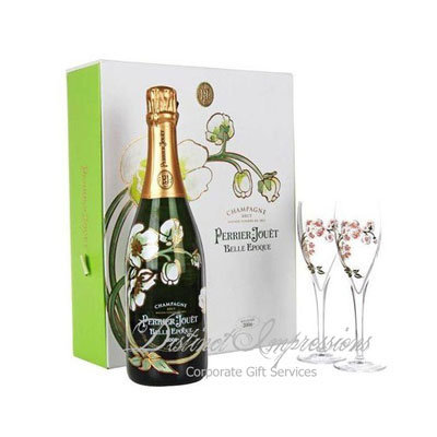 Perrier Jouet Belle Epoque Gift with 2 Glasses