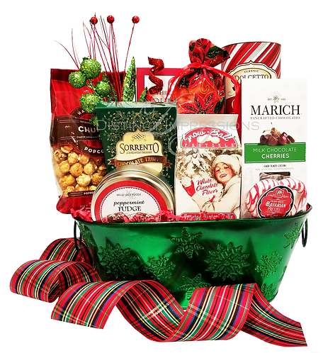 Merry and Bright Christmas Delight Gift Basket