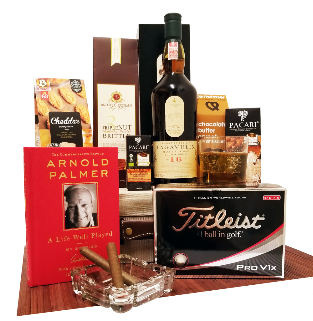 Bourbon Cigars and Golf Gift Crate