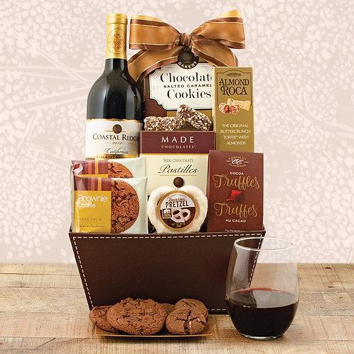 Cabernet Wine & Chocolates Gift Basket