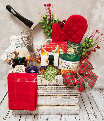 Farmhouse Christmas Morning Breakfast Gift Crate