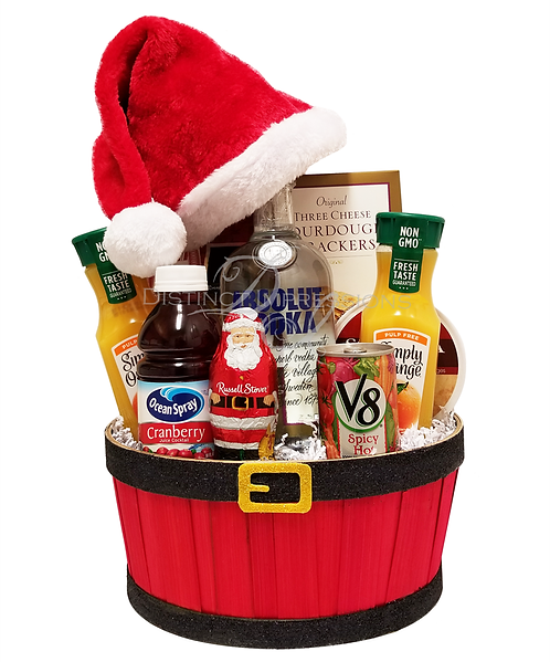 Holiday Spirits Gift Basket-With Absolut Vodka