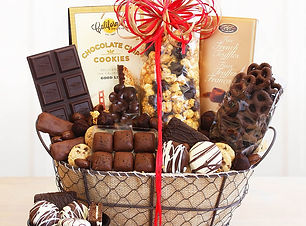 Chocolate delights gift is just one of the great gift basket we offer