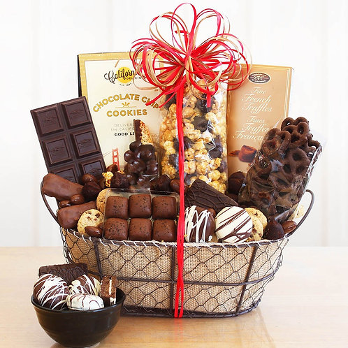 Decadent Chocolate Delights Gift Basket