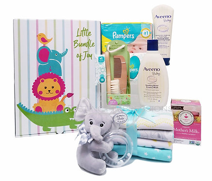 Little Bundle of Joy - New Baby Gift Box (Aveeno Products)