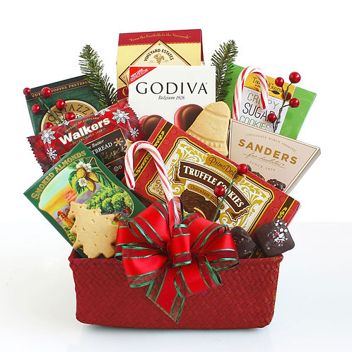 Petite Holiday Snacks Gift Basket