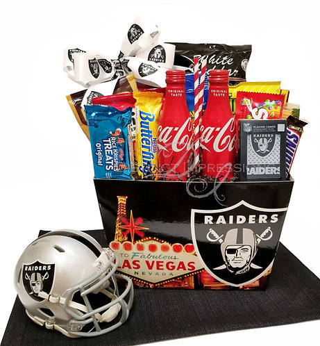 NFL Raiders Football - Snack Gift Basket