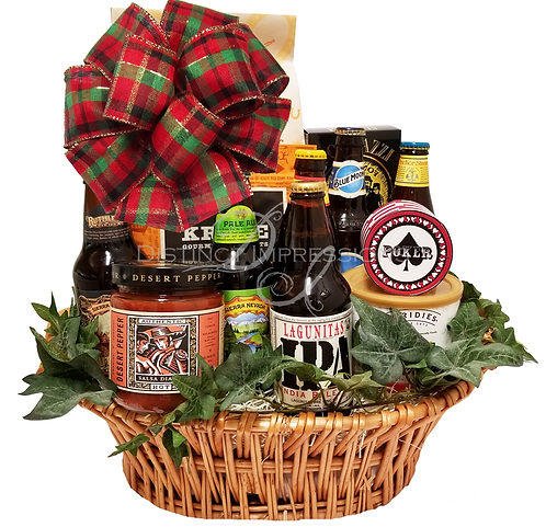 Holiday Craft Beer Collection and Snacks Gift Basket