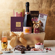 Rose Champagne and Chocolates Gift Basket for New Years Eve