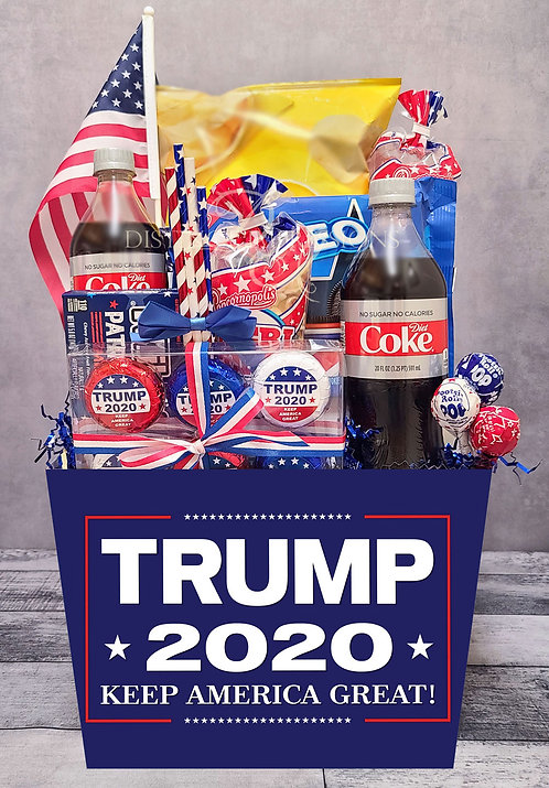 Trump 2020 - Presidents FAVORITE Snacks Basket