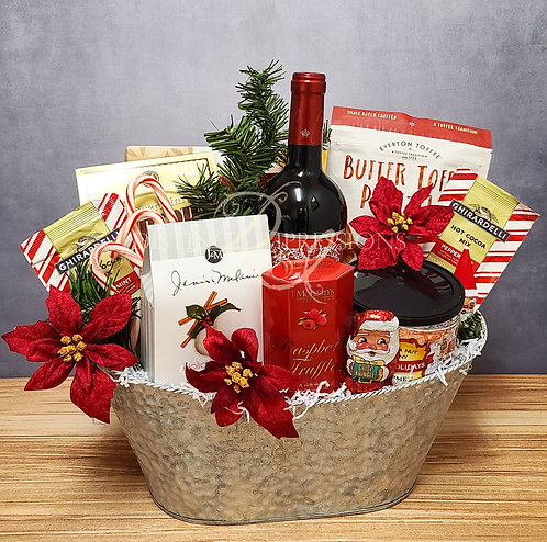Under the Christmas Tree Wine Gift Basket